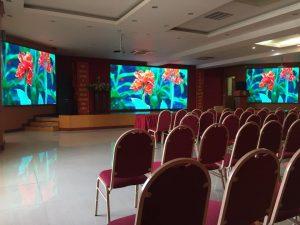 Cách bố trí màn hình Led cho hội trường